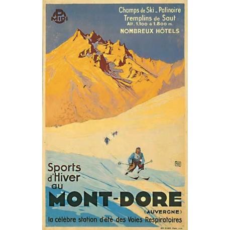 Affiche - Sports d'hiver au Mont-Dore - PLM-Midi