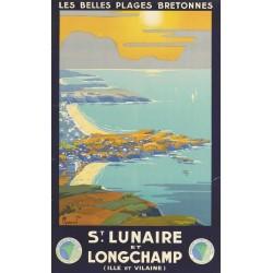 Affiche - Vue aérienne sur Saint Lunaire (rupture définitive)