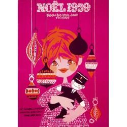 Affiche - Noël 1959 (fin de série) - Fondation Louis Lépine-Jouets