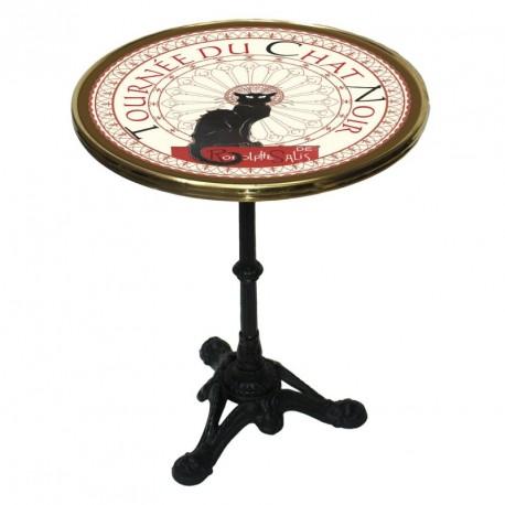Table de bistrot émaillée - Tournée du Chat noir - Tournée du Chat noir