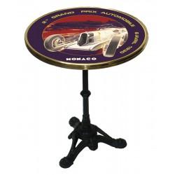 Table de bistrot émaillée - Grand Prix de Monaco de 1930